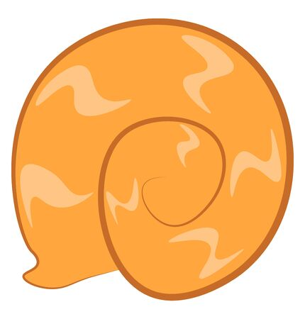 A beautiful snail in orange color, vector, color drawing or illustration. Reklamní fotografie - 132775771