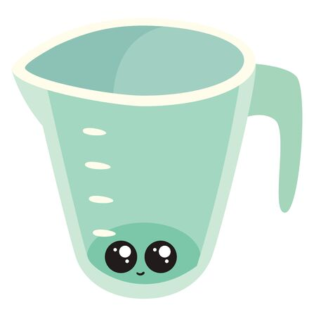 Cute measure cup, illustration, vector on white background.