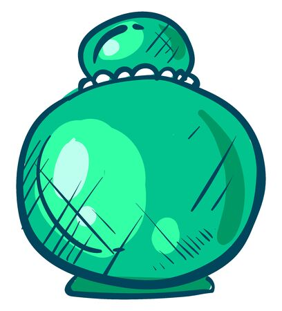 Bottle of perfume, illustration, vector on white background 일러스트