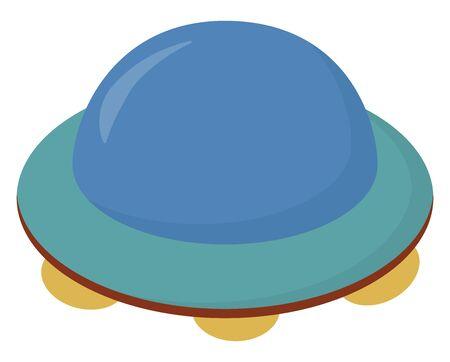 NLO, illustration, vector on white background.