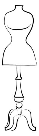 Dummy doll, illustration, vector on white background. Banque d'images - 132867377