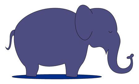 Purple elephant, illustration, vector on white background.  イラスト・ベクター素材