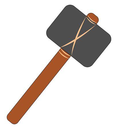 Big hammer, illustration, vector on white background.