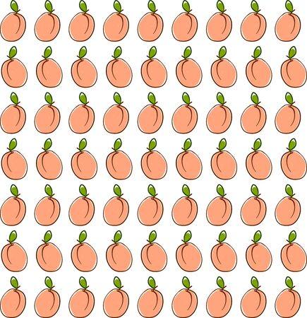 Apricot wallpaper, illustration, vector on white background.