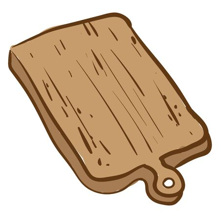 Cutting board, illustration, vector on white background.