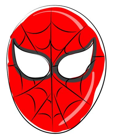 Spiderman mask, illustration, vector on white background.