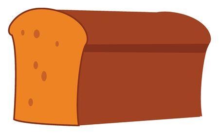 Big bread, illustration, vector on white background. Ilustrace