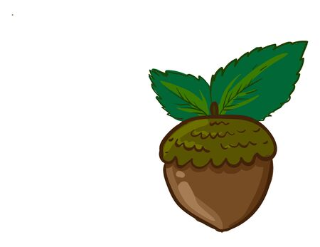 Healthy hazelnut, illustration, vector on white background 일러스트