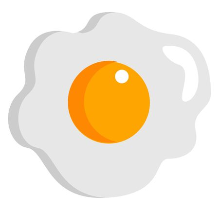 Delicious egg, illustration, vector on white background.