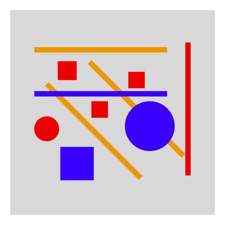 geometric painting, illustration, vector on white background. Illustration