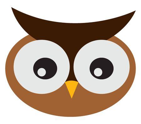 Cute owl, illustration, vector on white background