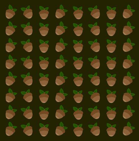 Hazelnut wallpaper, illustration, vector on white background