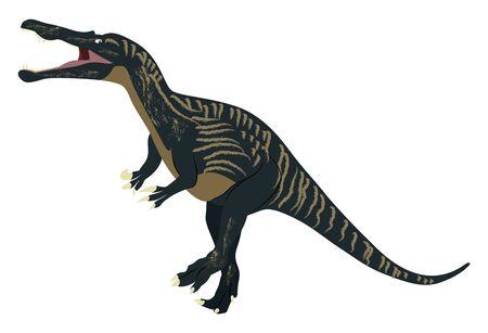 Suchomimus, illustration, vector on white background.