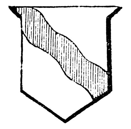 Bend Undy is a term used to express the word wavy by Gwillim, vintage line drawing or engraving illustration. Ilustração