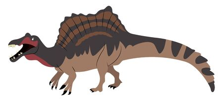 Spinosaurus, illustration, vector on white background.