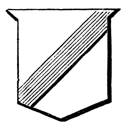 Shield Showing Scarpe is the fourth part of the bend, vintage line drawing or engraving illustration. Ilustração