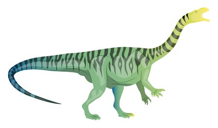 Plateosaurus, illustration, vector on white background. Ilustração