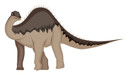 Diplodocus, illustration, vector on white background.