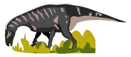 Iguanodon, illustration, vector on white background.