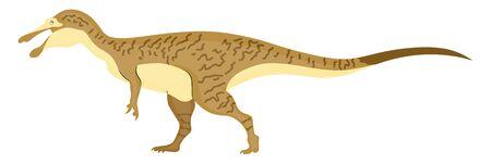 Baryonyx, illustration, vector on white background.