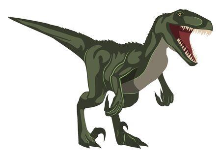 Velociraptor, ilustración, vector sobre fondo blanco.