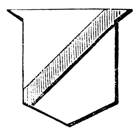 Scarpe is a diminutive of the bend sinister, vintage line drawing or engraving illustration.