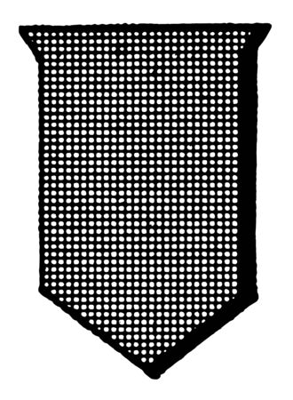 Sable Shield Color are represented by crossed vertical and horizontal lines, vintage line drawing or engraving illustration. Illustration