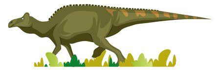 Edmontosaurus, illustration, vector on white background.