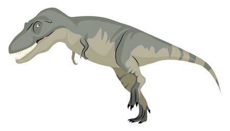 Daspletosaurus, illustration, vector on white background.