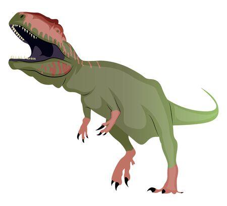 Giganotosaurus, illustration, vector on white background. Ilustrace