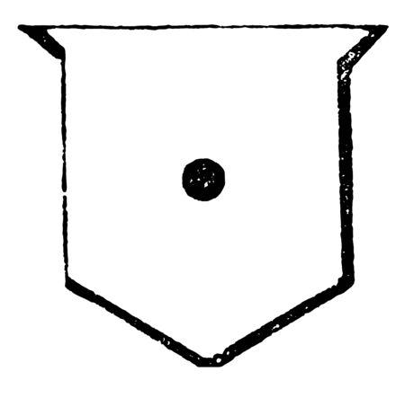 Fess Point comme on le voit dans l'exemple en annexe, dessin de ligne vintage ou illustration de gravure.
