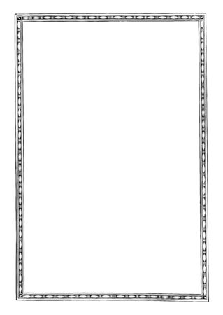 Simple Border is a Narrow pattern full page border, vintage line drawing or engraving illustration.