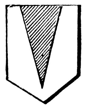 Pile is an angular figure like a wedge, vintage line drawing or engraving illustration. Illusztráció