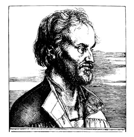 Philip Melanchthon was a German Professor and Theologian, vintage line drawing or engraving illustration.