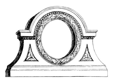 Fan Light is intended to be placed over a doorway, semicircular or rectangular window, fixed glazed window spread, vintage line drawing or engraving illustration. Ilustrace