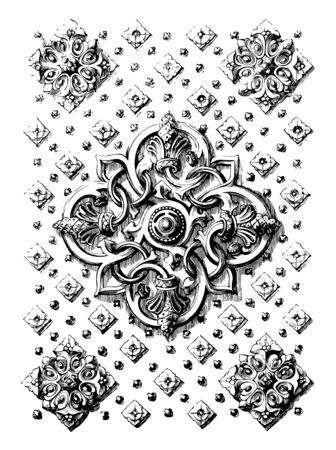 Book Cover is  ivory,  books,  reading, vintage line drawing or engraving illustration.