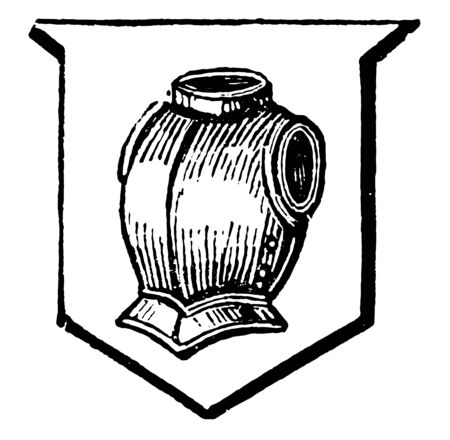 Habergeon is a coat of mail, vintage line drawing or engraving illustration. Ilustracja