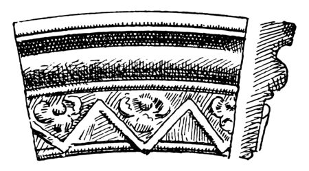 Gothic Architecture Ornaments Arch Moulding is during fourteenth century, full churches and buildings to structural, medieval and middle ages, vintage line drawing or engraving illustration. Illustration