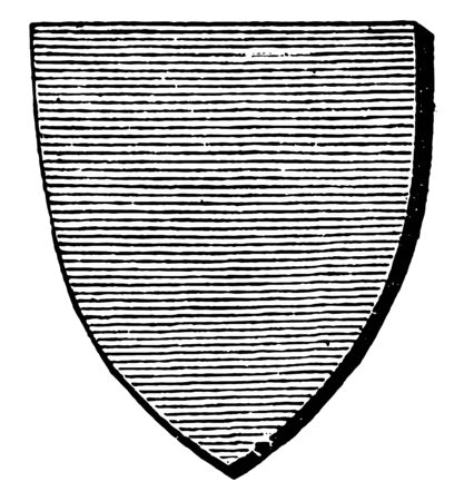 Azure Shield is represented by the horizontal lines vintage line drawing or engraving illustration.