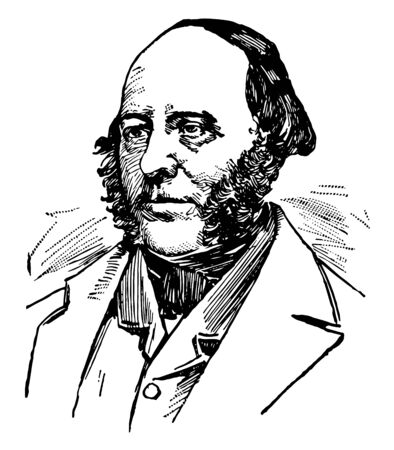 John Ericsson 1803 to 1889 he was a Swedish to American inventor and mechanical engineer who invented the screw propeller famous as one of the most influential mechanical engineers ever vintage line drawing or engraving illustration
