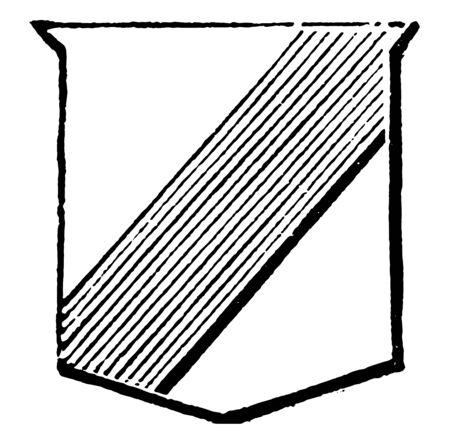 Bend Sinister is the diminutive of it, vintage line drawing or engraving illustration. Ilustração