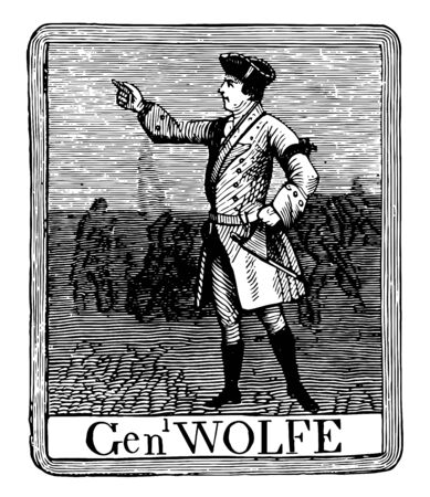 The sign on Putnams tavern bore a full to length portrait of General Wolfe vintage line drawing or engraving illustration