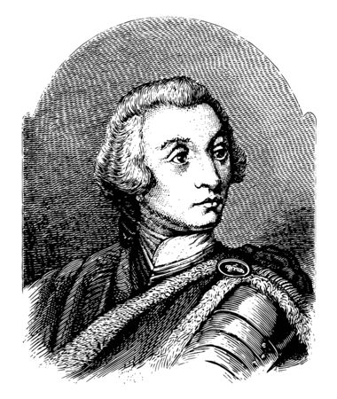 General James Oglethorpe 1696 to 1785 he was a British soldier member of parliament philanthropist and governor of Georgia vintage line drawing or engraving illustration