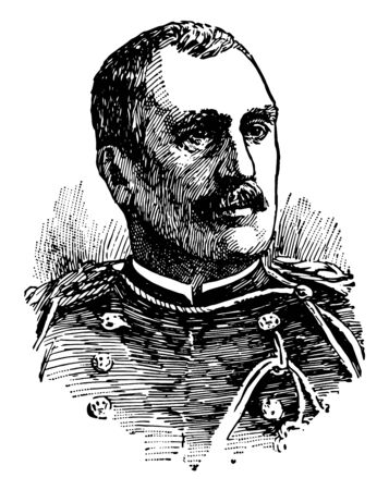 George Whitefield Davis was an engineer and Major General in the United States Army vintage line drawing or engraving illustration.
