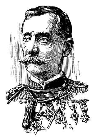 Guy Vernon Henry 1839 to 1899 he was a military officer and medal of honour recipient and governor of Puerto Rico vintage line drawing or engraving illustration Illustration