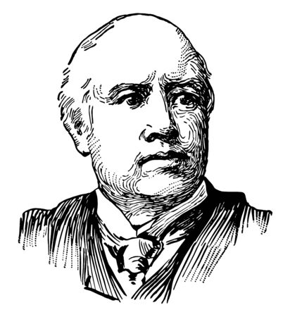 Robert Green Ingersoll 1833 to 1899 he was an American lawyer a civil war veteran politician and orator of the United States during the Golden age of free thought vintage line drawing or engraving illustration