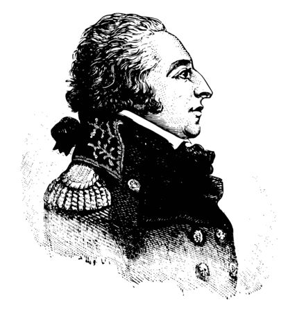 Edmond Charles Genest 1763 to 1834 he was the first French ambassador to the United States during the French revolution vintage line drawing or engraving illustration