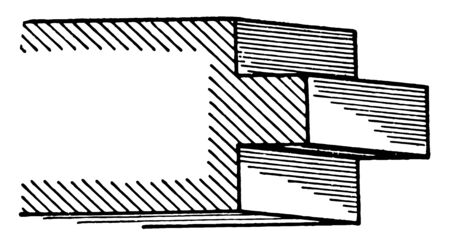 Raised Fillet A roman moulding generally made equal to its height may also be a depression vintage line drawing or engraving illustration.
