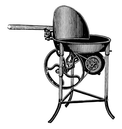 This illustration represents Traveling Forge when combined with a limber comprised wagons specifically designed vintage line drawing or engraving illustration.