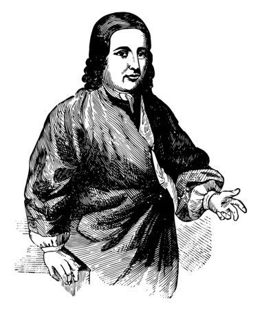 Nicholas Ludwig Zinzendorf 1700 bis 1760 war er ein deutscher religiöser und sozialreformerischer Bischof der Mährischen Kirche und Gründer der Herrnhuter Brüdergemeine Vintage-Linienzeichnung oder Gravierillustration